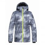 Quiksilver Mission Printed Youth Jacket Grey Simple Texture