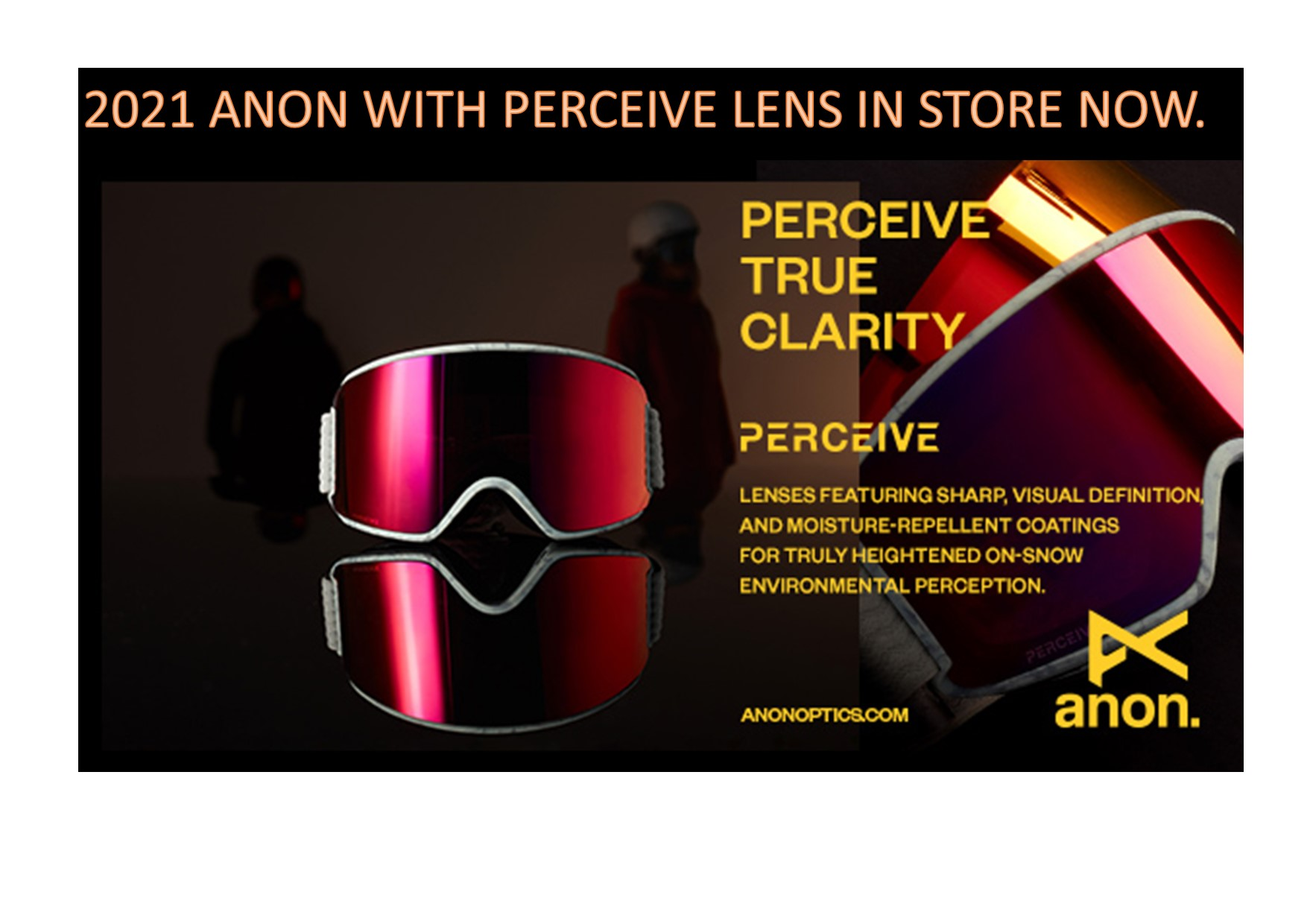 2021 ANON GOGGLES IN STORE NOW.